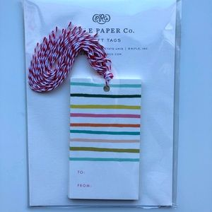 Rifle paper co rainbow stripe gift tags